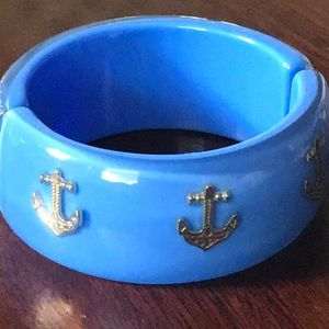 Blue Resign Bracelet with Anchors